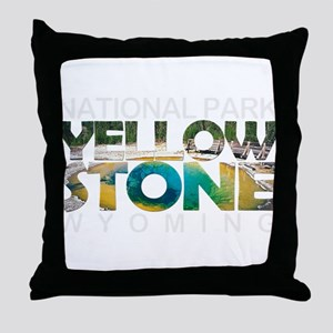 Yellowstone - Wyoming, Montana, Idaho Throw Pillow
